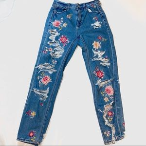 AE Flower Mom Jeans